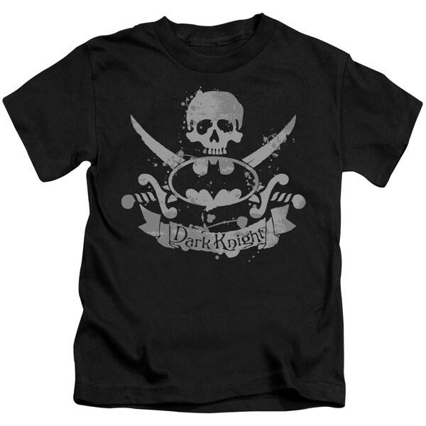 Batman/Dark Pirate Short Sleeve Juvenile Graphic T-Shirt in Black