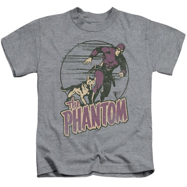 Phantom/Phantom and Dog Short Sleeve Juvenile Graphic T-Shirt in Heather