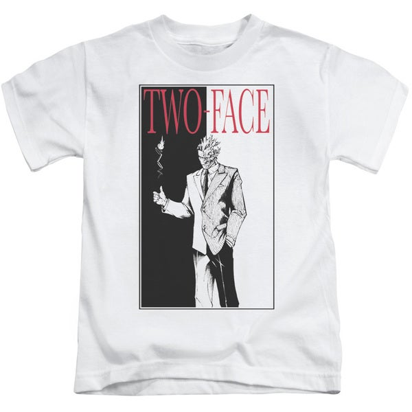 Batman/Two Face Short Sleeve Juvenile Graphic T-Shirt in White