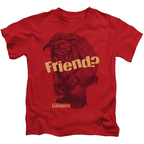 Labyrinth/Ludo Friend Short Sleeve Juvenile Graphic T-Shirt in Red