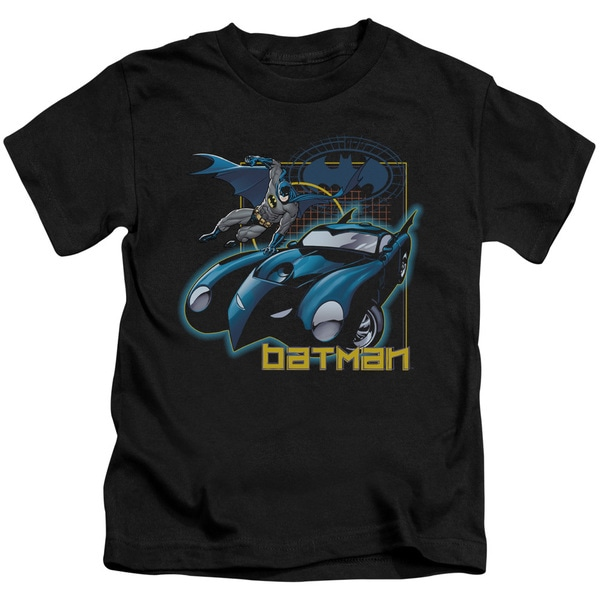 Batman/Nice Wheels Short Sleeve Juvenile Graphic T-Shirt in Black