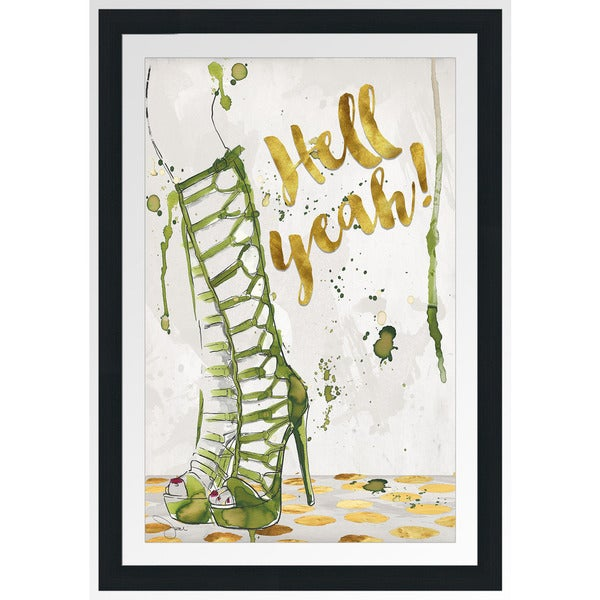 "BY Jodi ""Hell Yeah"" Framed Plexiglass Wall Art"