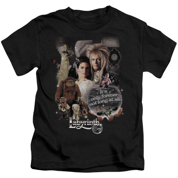 Labyrinth/25 Years Of Magic Short Sleeve Juvenile Graphic T-Shirt in Black