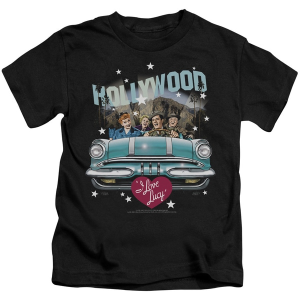 Lucy/Hollywood Road Trip Short Sleeve Juvenile Graphic T-Shirt in Black