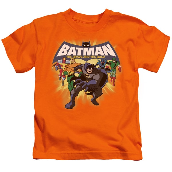 Batman Bb/A Bold Force Short Sleeve Juvenile Graphic T-Shirt in Orange