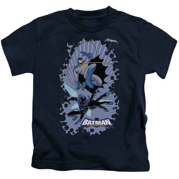 Batman Bb/Bat Beetle Burst Short Sleeve Juvenile Graphic T-Shirt in Navy