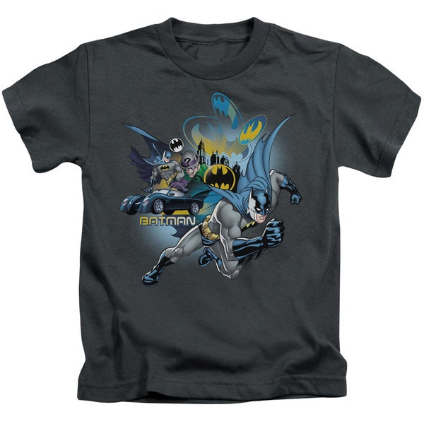 Batman/Call Of Duty Short Sleeve Juvenile Graphic T-Shirt in Charcoal
