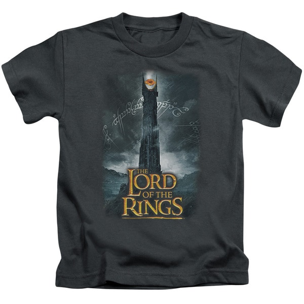 LOTR/Always Watching Short Sleeve Juvenile Graphic T-Shirt in Charcoal