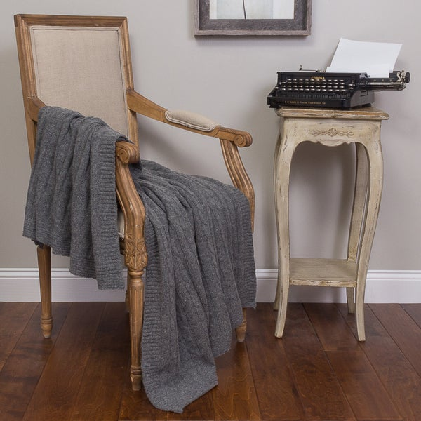 Kimberly Charcoal Cotton Throw