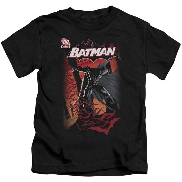 Batman/#655 Cover Short Sleeve Juvenile Graphic T-Shirt in Black