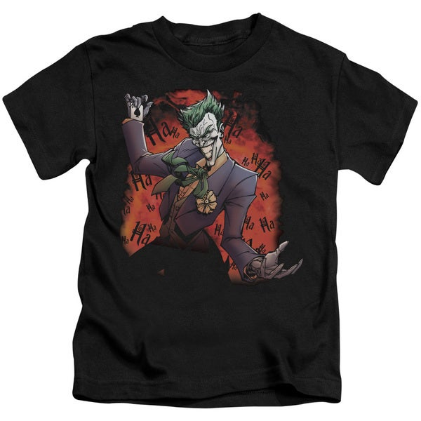 Batman/Joker's Ave Short Sleeve Juvenile Graphic T-Shirt in Black