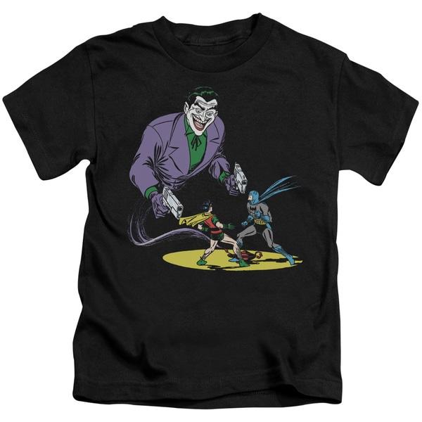 Batman/Detective #69 Cover Short Sleeve Juvenile Graphic T-Shirt in Black