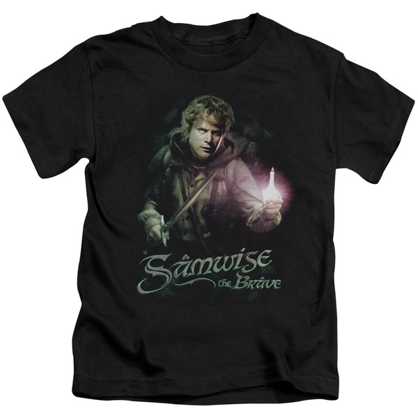 LOTR/Samwise The Brave Short Sleeve Juvenile Graphic T-Shirt in Black