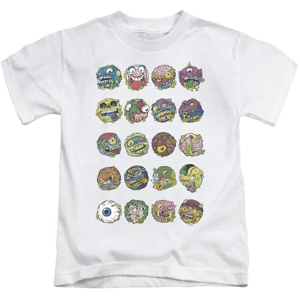 Madballs/Ball Columns Short Sleeve Juvenile Graphic T-Shirt in White