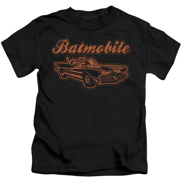 Batman/Batmobile Short Sleeve Juvenile Graphic T-Shirt in Black