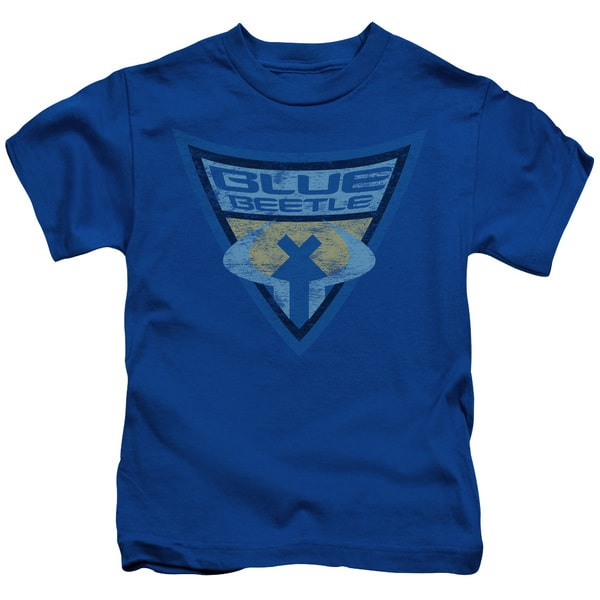 Batman Bb/Blue Beetle Shield Short Sleeve Juvenile Graphic T-Shirt in Royal