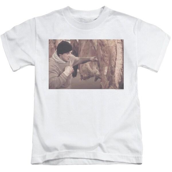 Rocky/Meat Locker Short Sleeve Juvenile Graphic T-Shirt in White