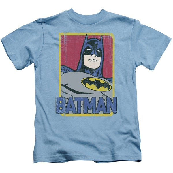 Batman/Primary Short Sleeve Juvenile Graphic T-Shirt in Carolina Blue