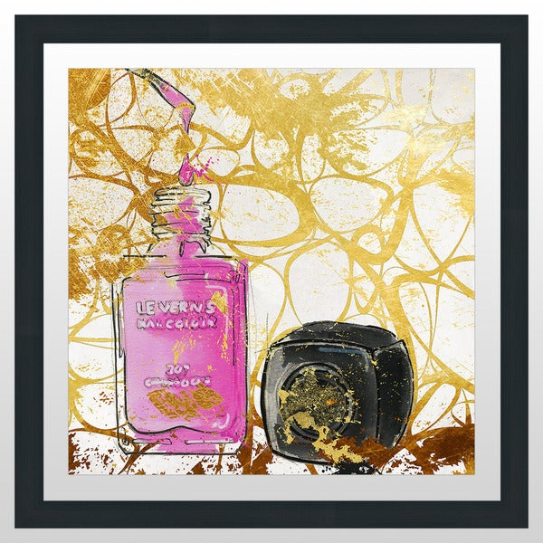 "BY Jodi ""Pink Polish"" Framed Plexiglass Wall Art"
