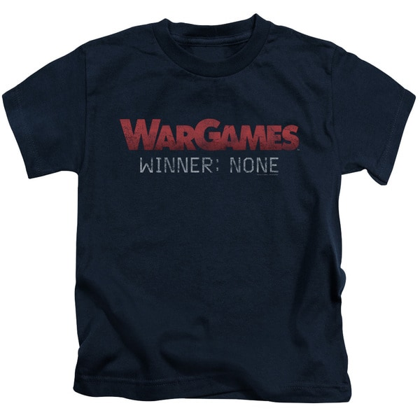 Wargames/No Winners Short Sleeve Juvenile Graphic T-Shirt in Navy