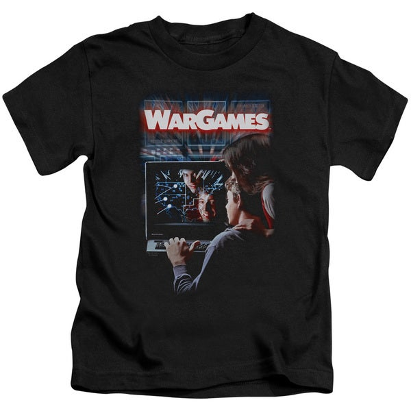 Wargames/Poster Short Sleeve Juvenile Graphic T-Shirt in Black
