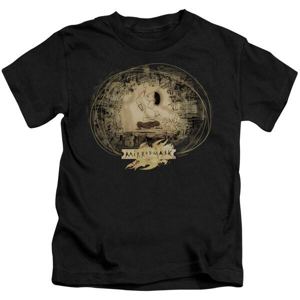 Mirrormask/Sketch Short Sleeve Juvenile Graphic T-Shirt in Black