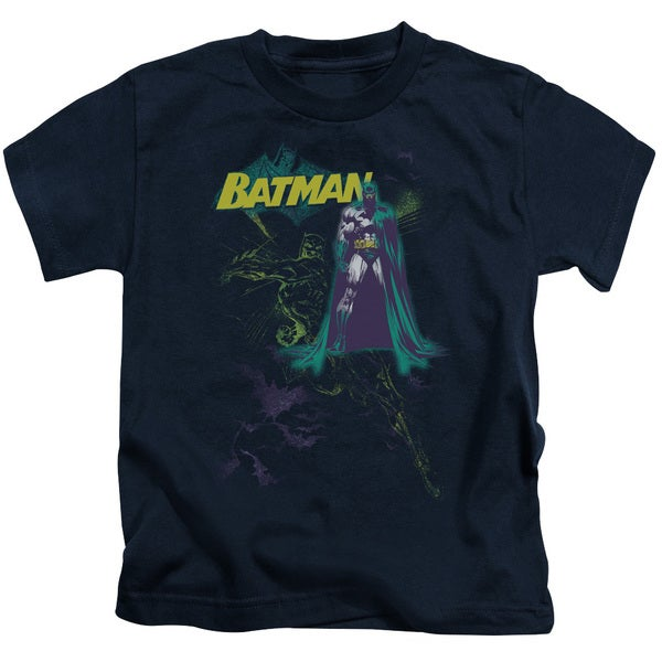 Batman/Bat Spray Short Sleeve Juvenile Graphic T-Shirt in Navy