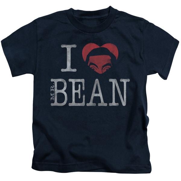 Mr Bean/I Heart Mr Bean Short Sleeve Juvenile Graphic T-Shirt in Navy