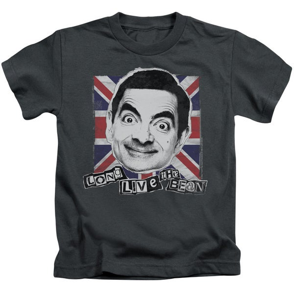 Mr Bean/Long Live Short Sleeve Juvenile Graphic T-Shirt in Charcoal