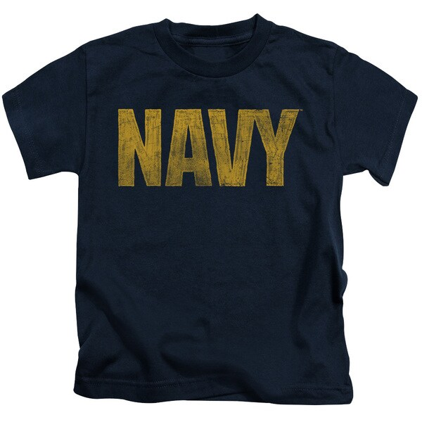 Navy/Logo Short Sleeve Juvenile Graphic T-Shirt in Navy