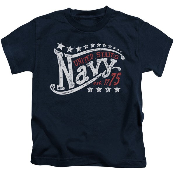 Navy/Stars Short Sleeve Juvenile Graphic T-Shirt in Navy