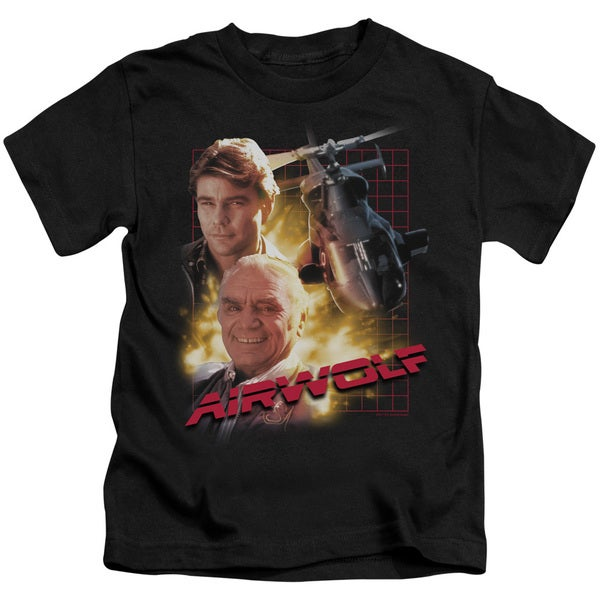 Airwolf/Airwolf Short Sleeve Juvenile Graphic T-Shirt in Black