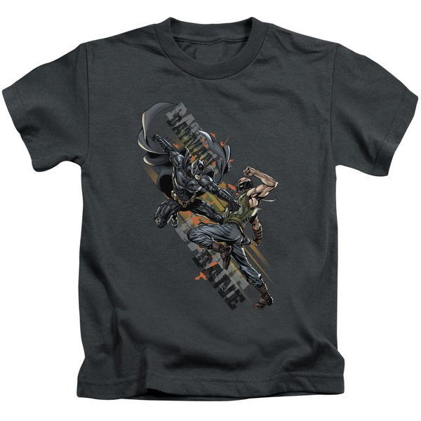 Dark Knight Rises/Attack Short Sleeve Juvenile Graphic T-Shirt in Charcoal