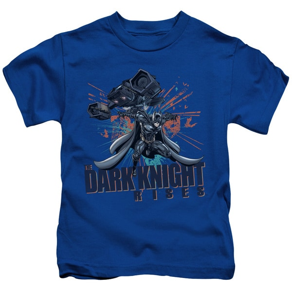 Dark Knight Rises/Batwing Short Sleeve Juvenile Graphic T-Shirt in Royal