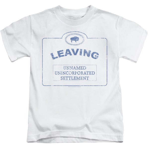 Warehouse 13/Now Leaving Univille Short Sleeve Juvenile Graphic T-Shirt in White