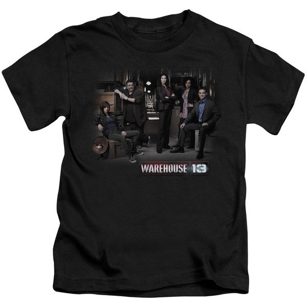 Warehouse 13/Warehouse Cast Short Sleeve Juvenile Graphic T-Shirt in Black