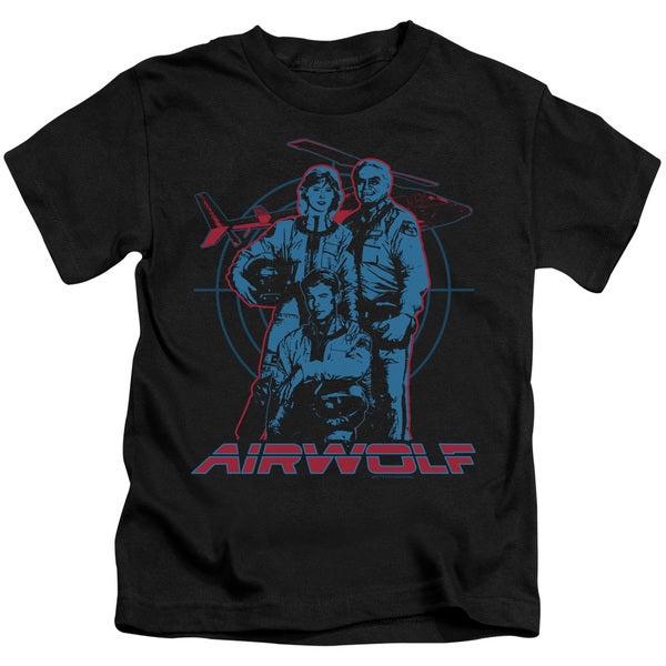 Airwolf/Graphic Short Sleeve Juvenile Graphic T-Shirt in Black