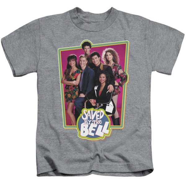 Saved By The Bell/Saved Cast Short Sleeve Juvenile Graphic T-Shirt in Heather
