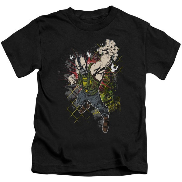 Dark Knight Rises/Bane Will Crush Short Sleeve Juvenile Graphic T-Shirt in Black