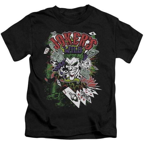 Batman/Jokers Wild Short Sleeve Juvenile Graphic T-Shirt in Black