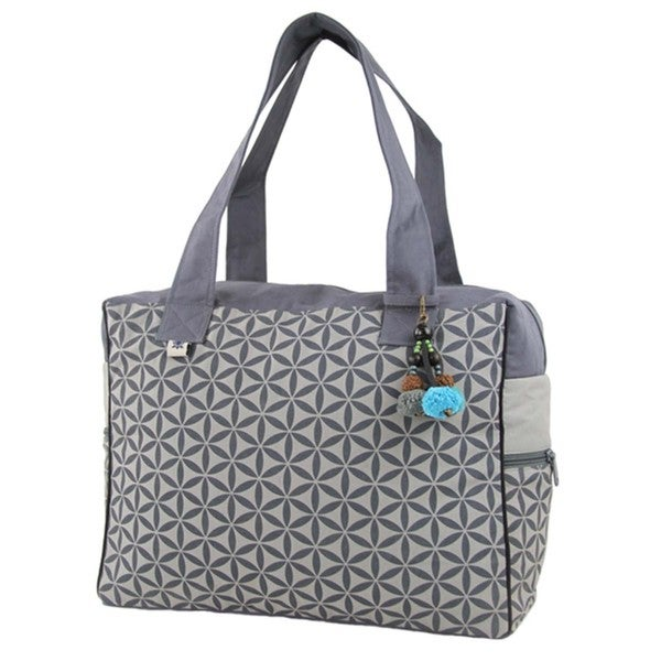 Flower of Life Retreat Bag in Grey - Global Groove (Thailand)