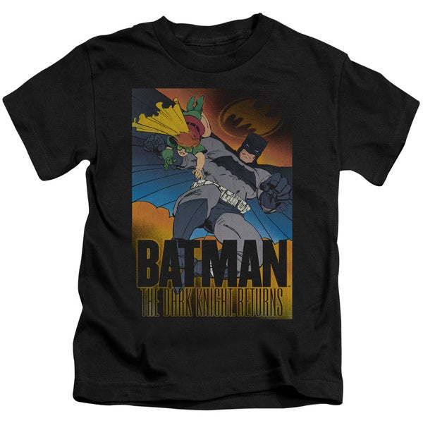 Batman/Dk Returns Short Sleeve Juvenile Graphic T-Shirt in Black