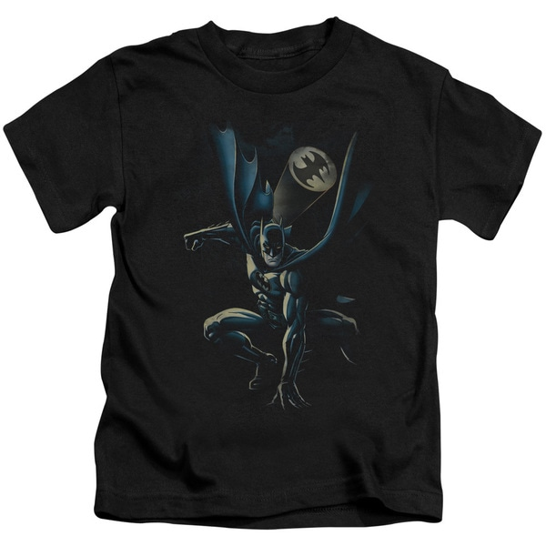 Batman/Calling All Bats Short Sleeve Juvenile Graphic T-Shirt in Black