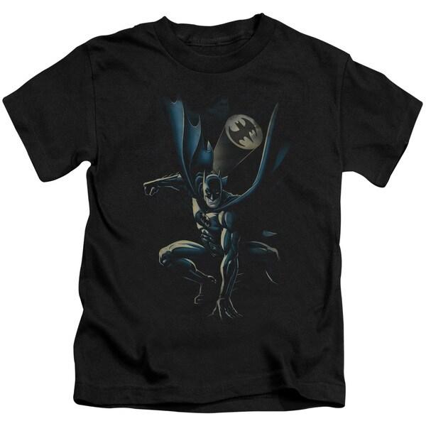 Batman/Calling All Bats Short Sleeve Juvenile Graphic T-Shirt in Black