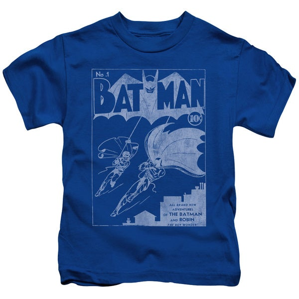 Batman/Issue 1 Cover Short Sleeve Juvenile Graphic T-Shirt in Royal