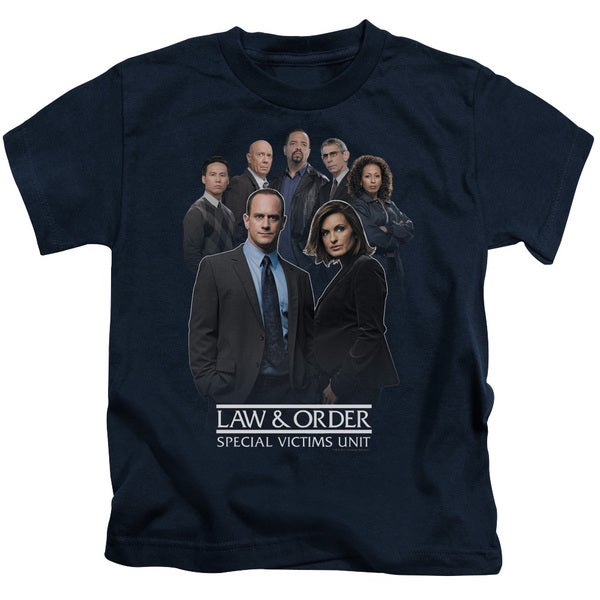 Law & Order SVU/Team Short Sleeve Juvenile Graphic T-Shirt in Navy