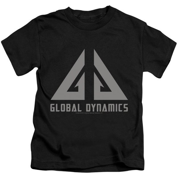 Eureka/Global Dynamics Logo Short Sleeve Juvenile Graphic T-Shirt in Black