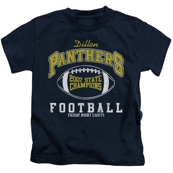Friday Night Lights/State Champs Short Sleeve Juvenile Graphic T-Shirt in Navy