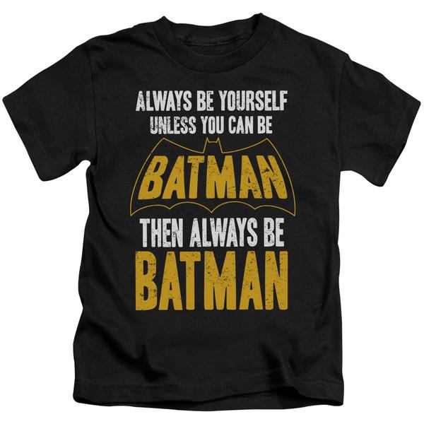 Batman/Be Batman Short Sleeve Juvenile Graphic T-Shirt in Black