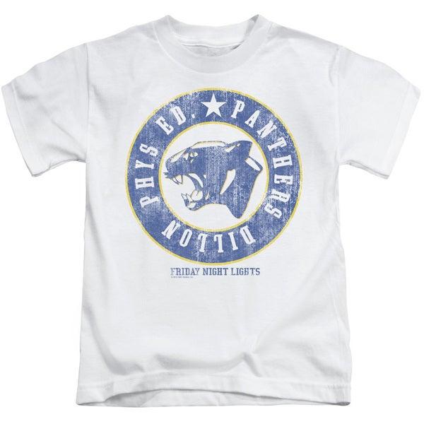 Friday Night Lights/Phys Ed Short Sleeve Juvenile Graphic T-Shirt in White